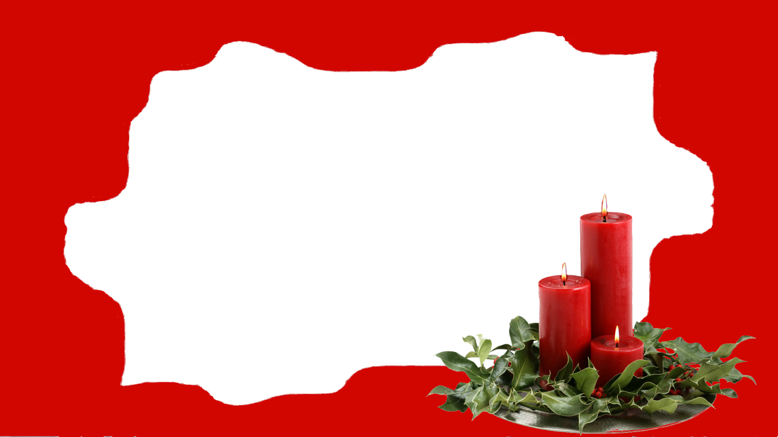 irregular-frame-with-candles_red png