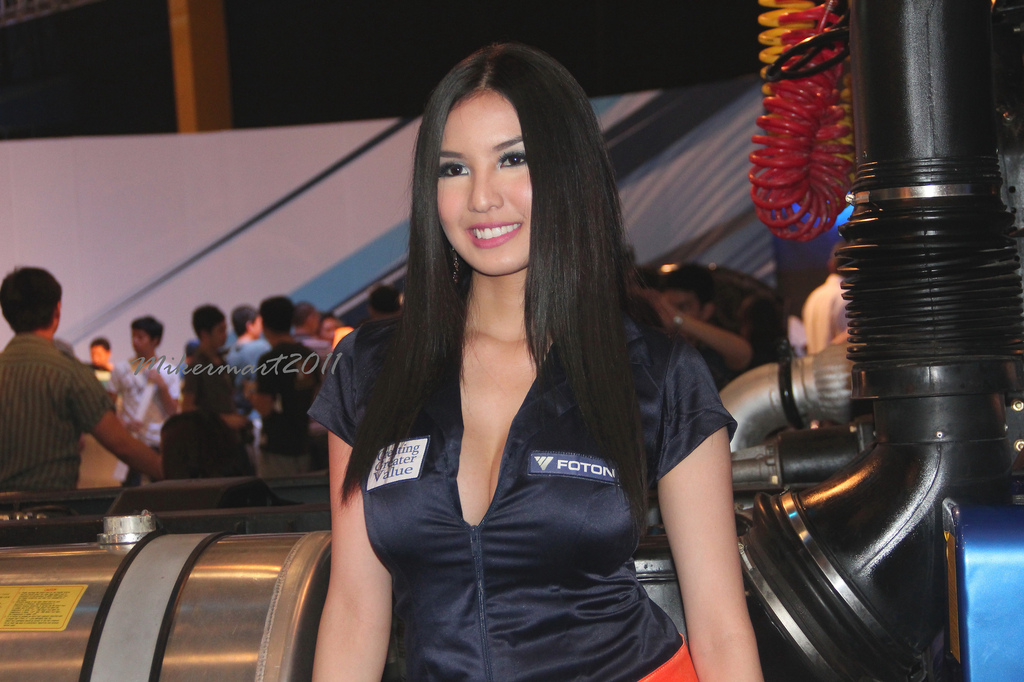Abby with her foton dress