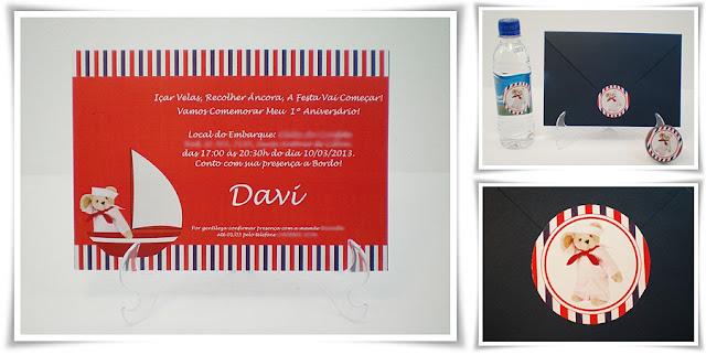 Aniversário do Davi, modelo Jurerê 60.
