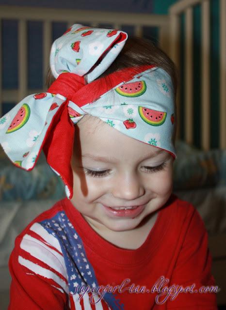 стильная повязка из хлопка для девочки