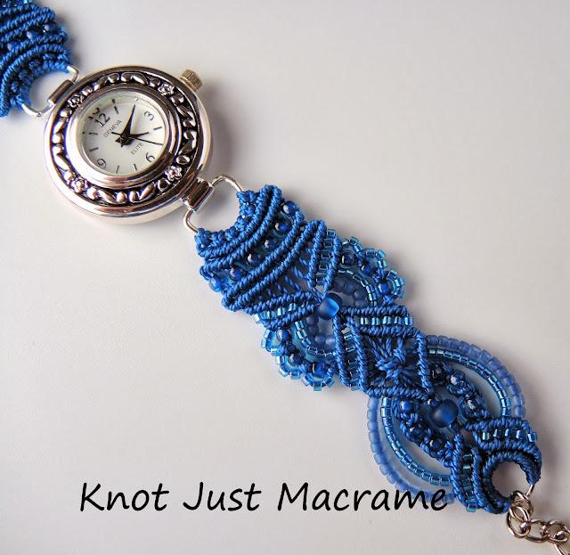 Micro Macrame bracelet watch by Sherri Stokey