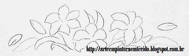 pintura em tecido para pintar flores
