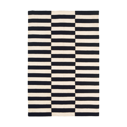 Black and white striped wool carpet carpet vidalondon for Black and white berber carpet