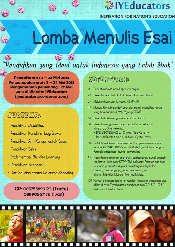 Lomba Menulis Esai - Education Fair 2013