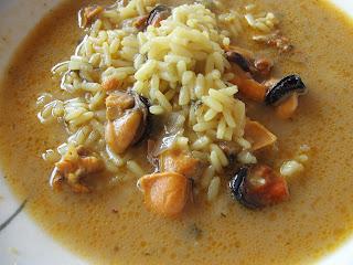 Cocinar sin sal arroz caldoso con mejillones sin sal - Cocinar sin sal ...