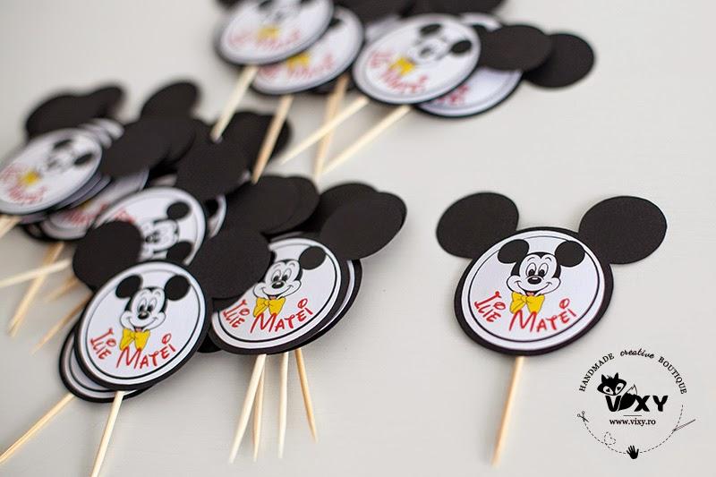 stegulete prajituri Mickey, stegulete personalizate, etichete candybar, etichete Mickey Mouse