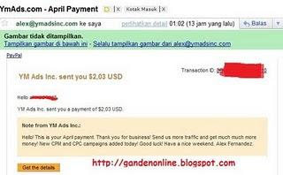 Bukti pembayaran YMads,YMads.com,CPM YMads,Iklan CPM baru,CPM ads,Buffered Earning Nuffnang,pembayaran YMads