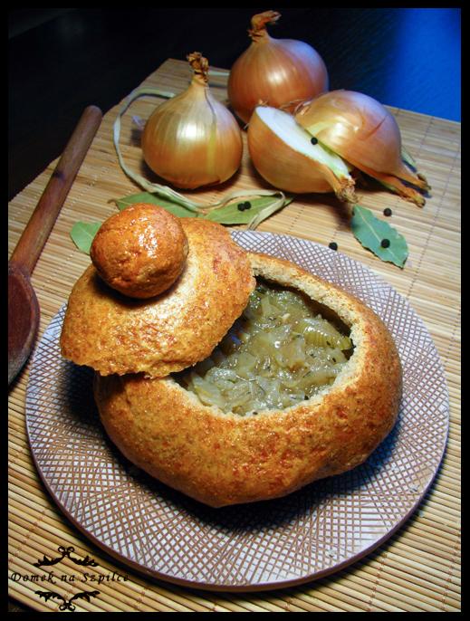 Zupa z cebuli i winem