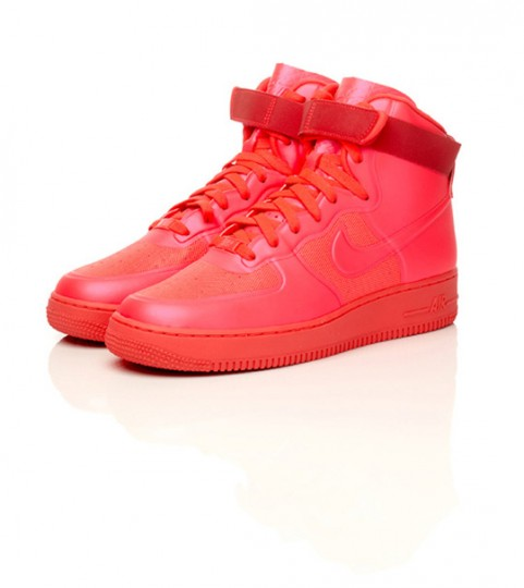 Nike Air Force Rosse Camoscio