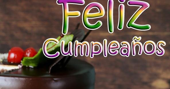 BANCO DE IMÁGENES Postales de cumpleaños para compartir con pastel, mensaje y globos de colores