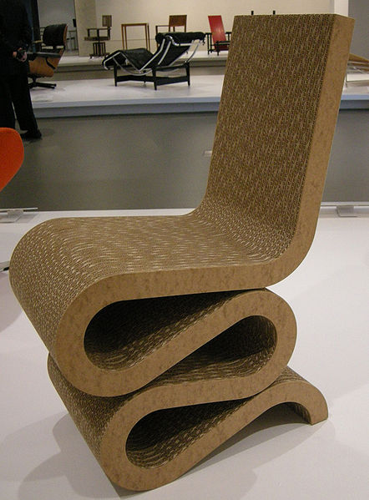 Frank Gehry Wiggle Chair 1972 Sailko