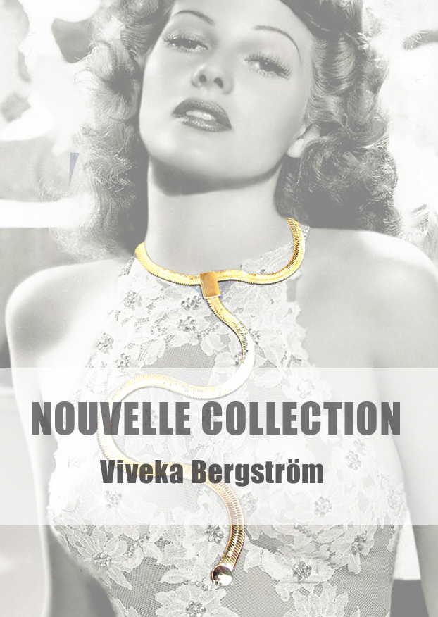 Sautoir cravate Viveka Bergström doré
