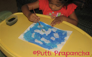 Salt Painting preschool kids