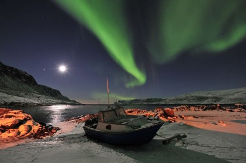 Northern Lights, Baffin Island in the Canadian territory of Nunavut