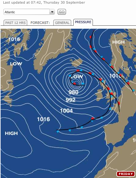 how to read wind speed on a synoptic chart