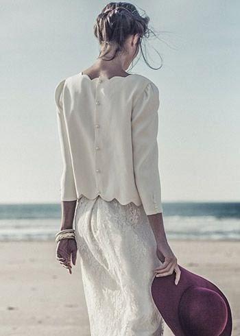 Wedding Dresses Laure de Sagazan Bridal : Cool Chic Style Fashion