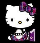 purple punk hello kitty