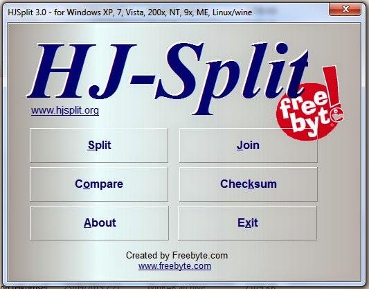 Cara Menggabungkan File Menggunakan HJ-Split