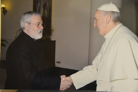 Rev Fr Tomas and Pope Francisco