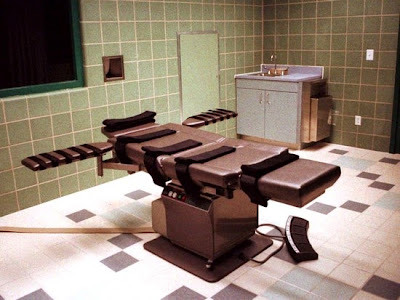 The death chamber at the U.S. Penitentiary in Terre Haute, Indiana