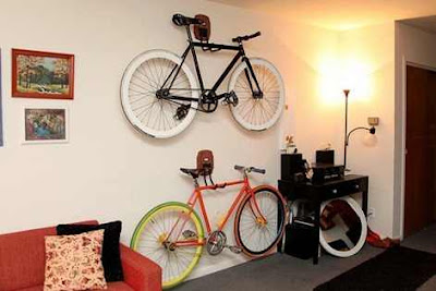 ideas and photos to keep the bike at home
