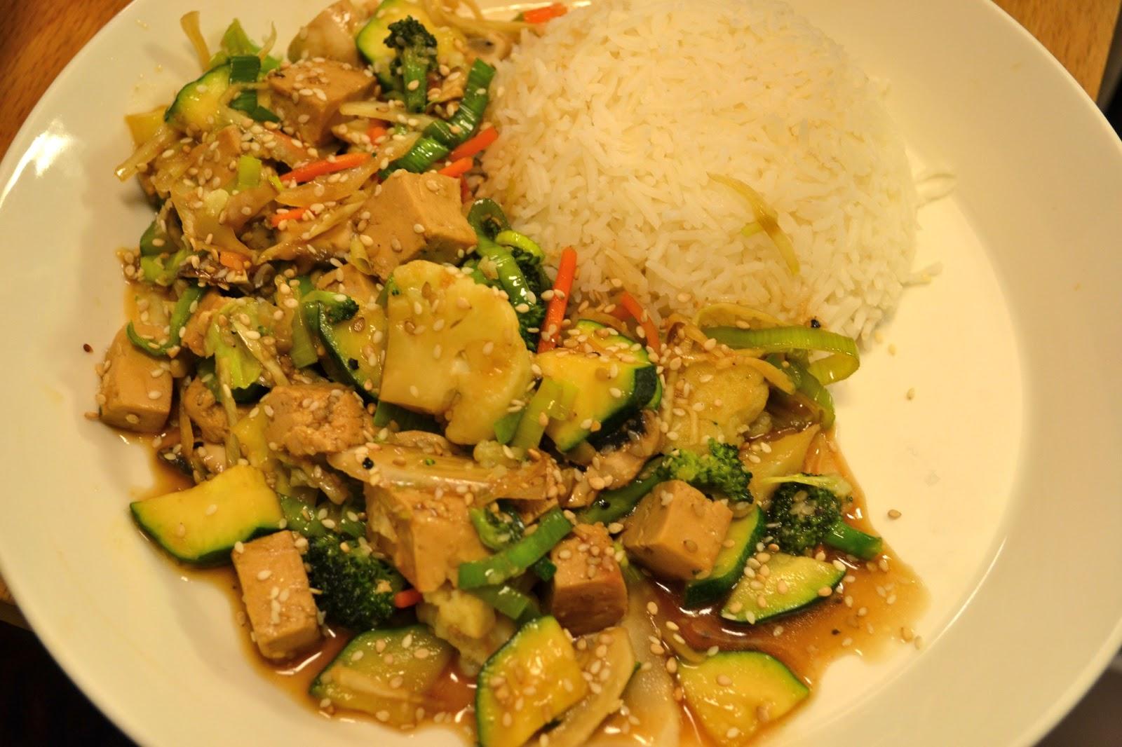 Mastertofu: Stir fried Tofu Wok with Sesame sauce