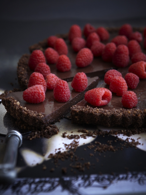 Chocolate-Raspberry Tart Recipe — Dishmaps