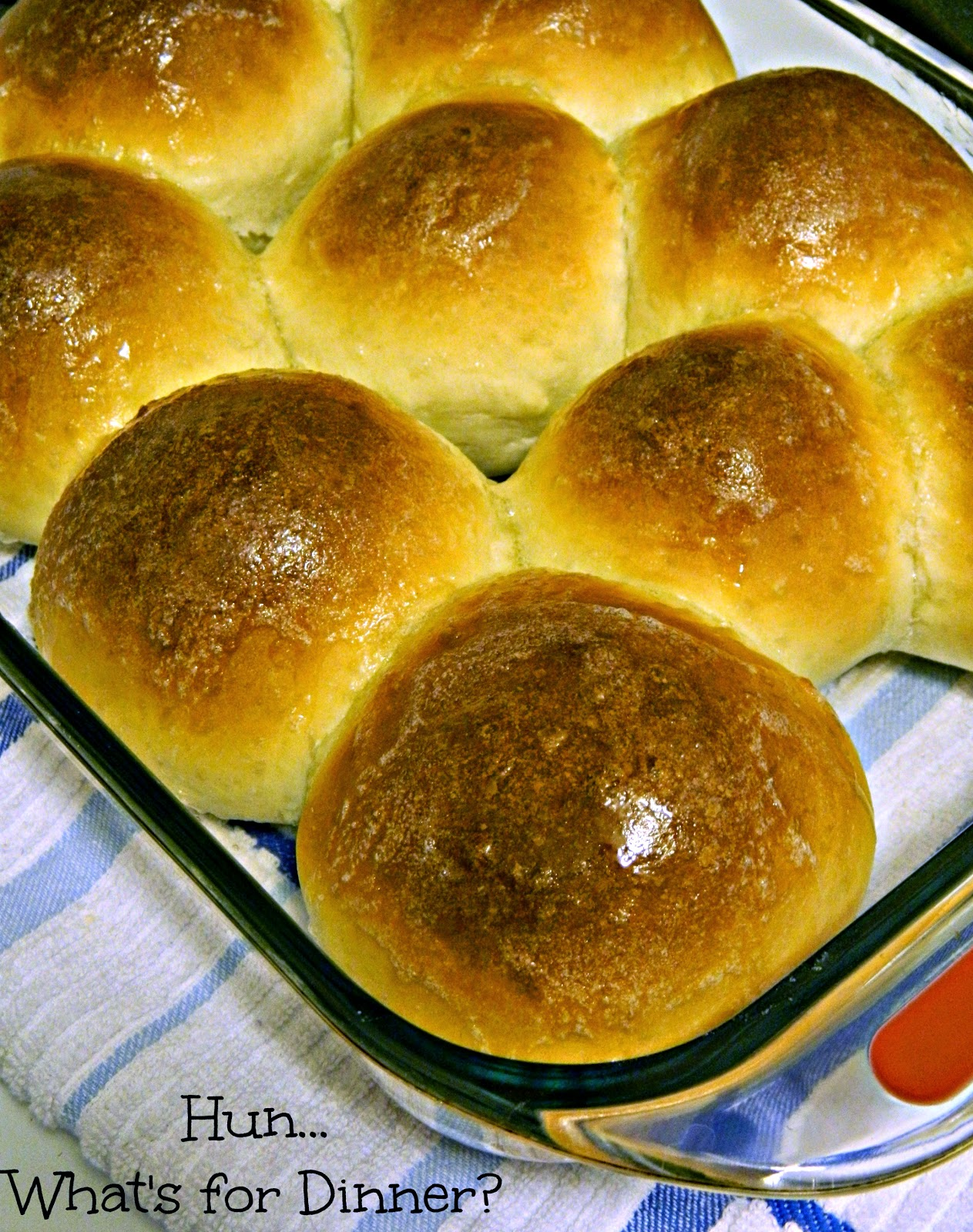 Secret Recipe Club- Texas Roadhouse Sweet Yeast Rolls on Hun... What's for Dinner?