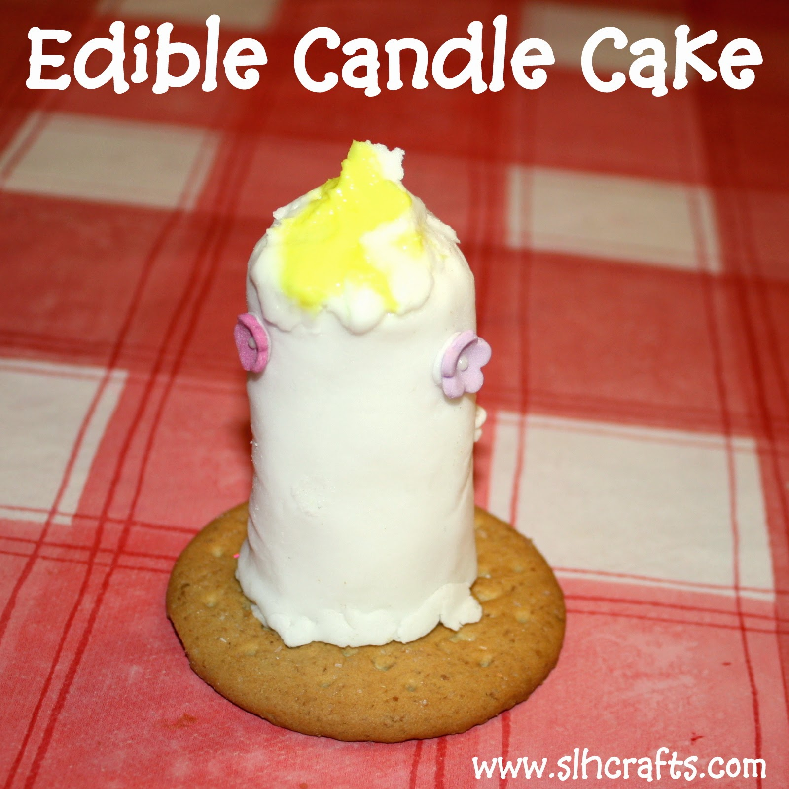 edible candle cake