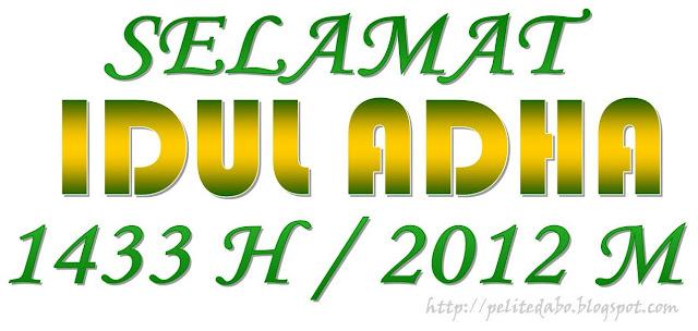 Selamat Idul Adha 1433 H / 2012 M