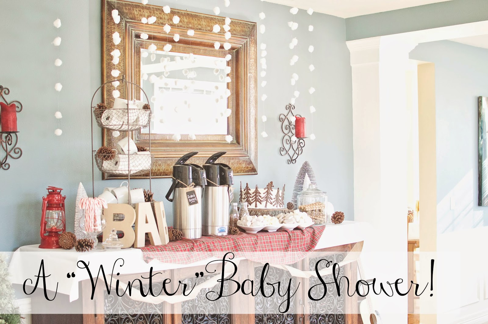 A WINTER THEMED BABY SHOWER