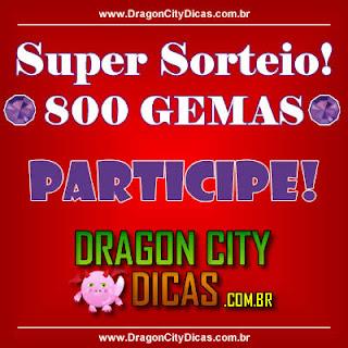Super Sorteio - Concorra à 800 Gemas - Agosto