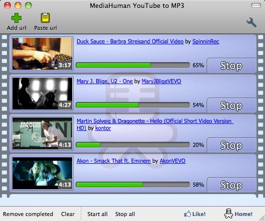 برنامج تحويل مقاطع اليوتيوب إلى ام بي ثري للماك MediaHuman YouTube to MP3