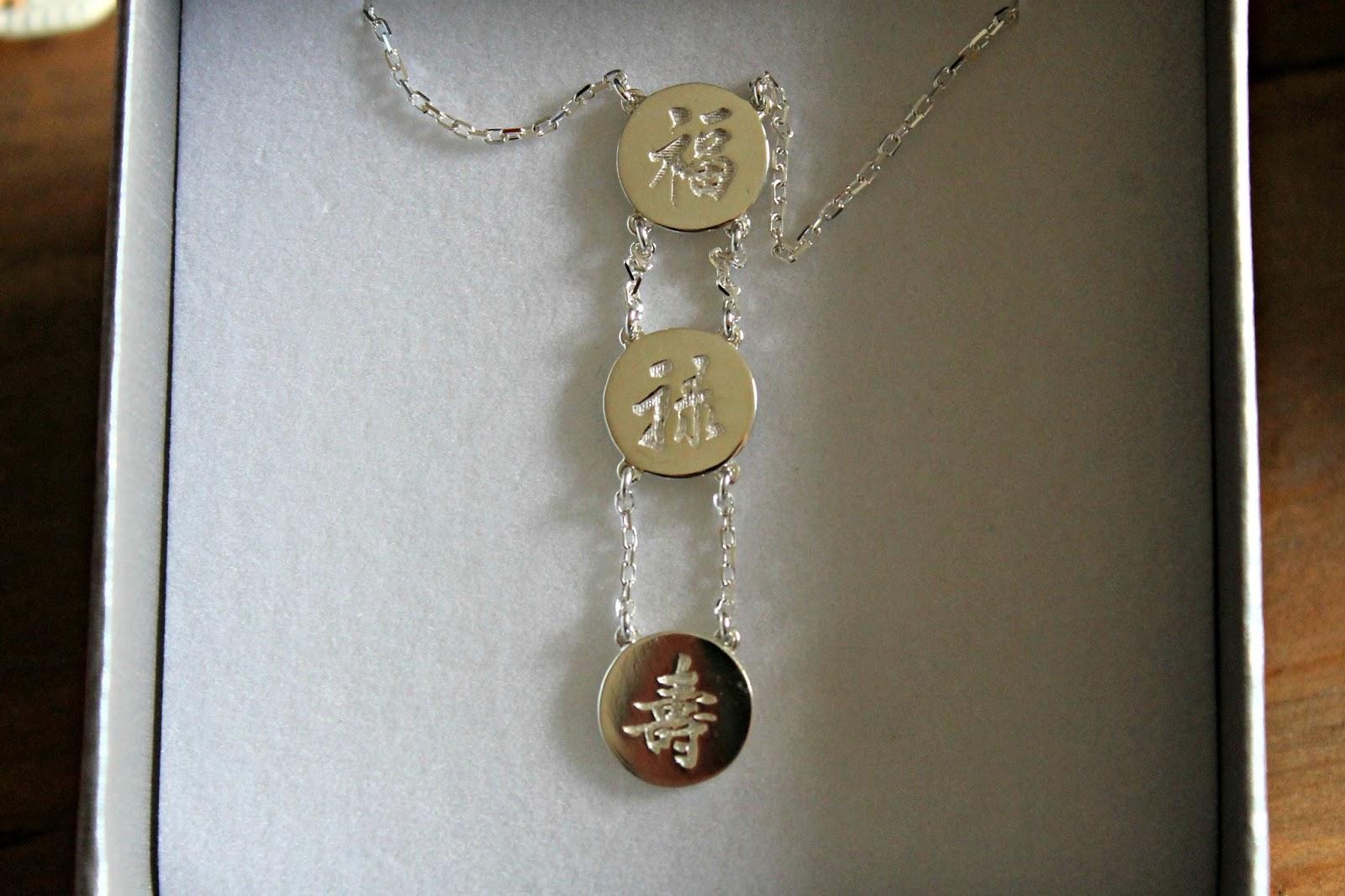 Three Lucky Stars necklace Liwu Jewellery