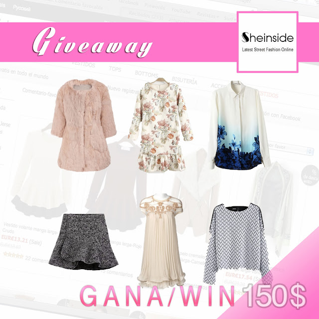 sheinside online store giveaway fashionblogger blogeer