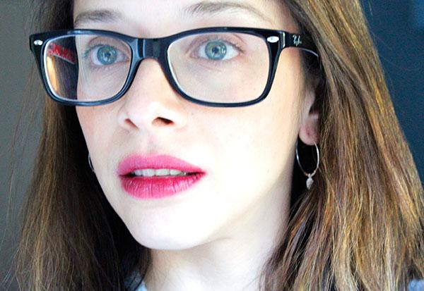 lipstick y lentes