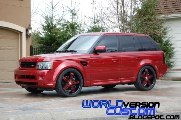 world version custom range rover sport rodas aro 22. Black Bedroom Furniture Sets. Home Design Ideas
