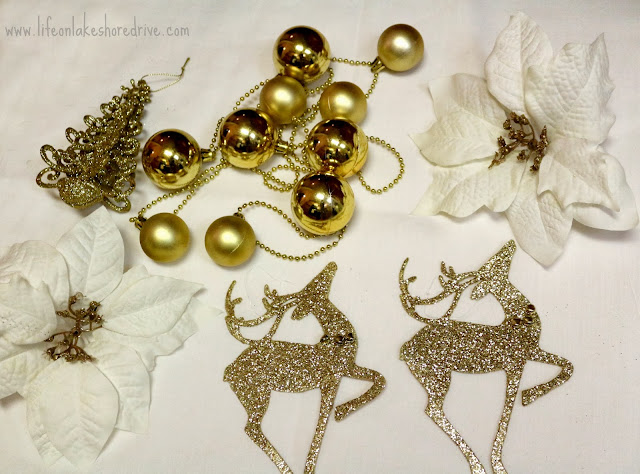 DIY Gold and White Dollar Store Tutorial