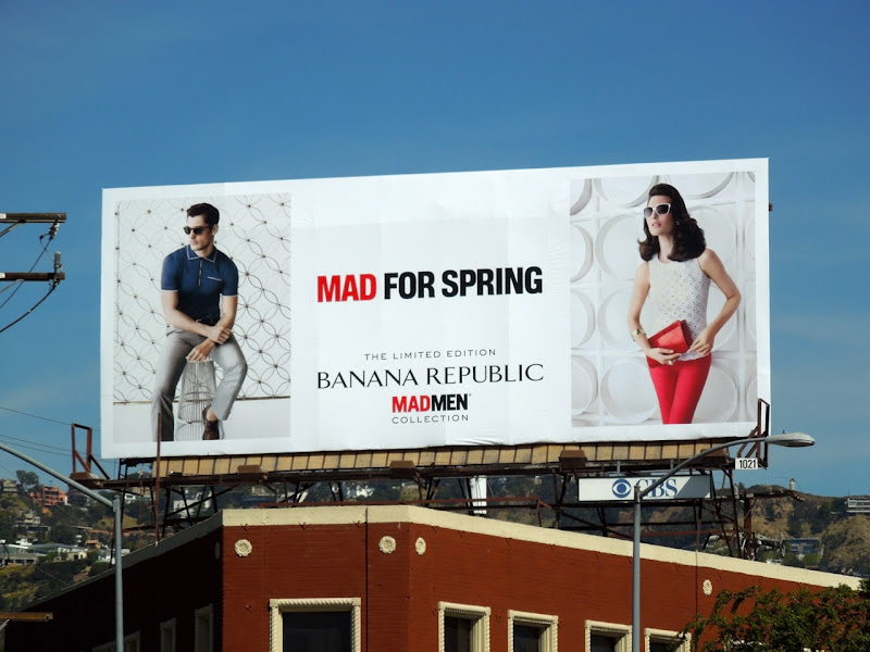 Mad Men Collection fashion billboard