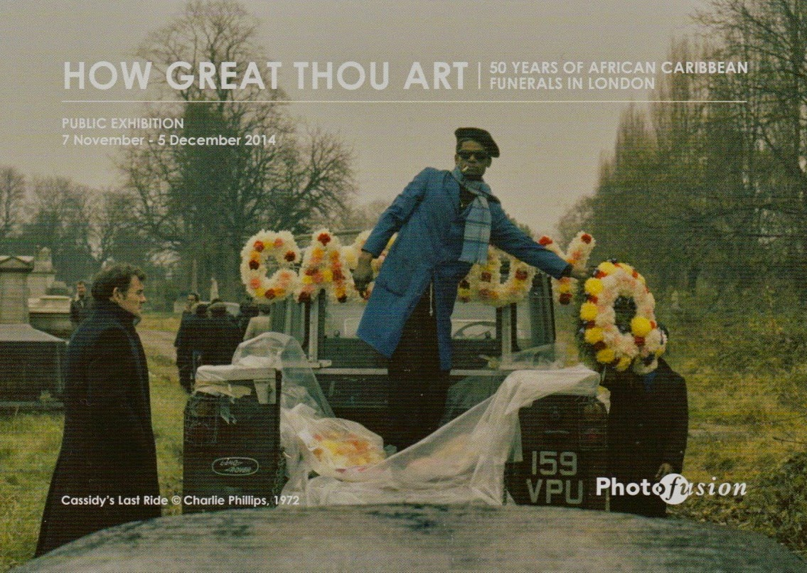 How Great Thou Art: 50 years of African Caribbean funerals in London, photographed by Charlie Phillips. An exhibition at  Photofusion, Brixton