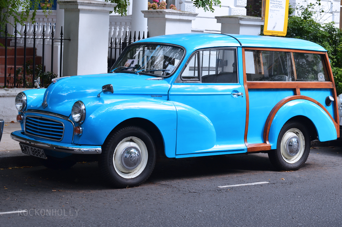 Vintage car in Notting Hill