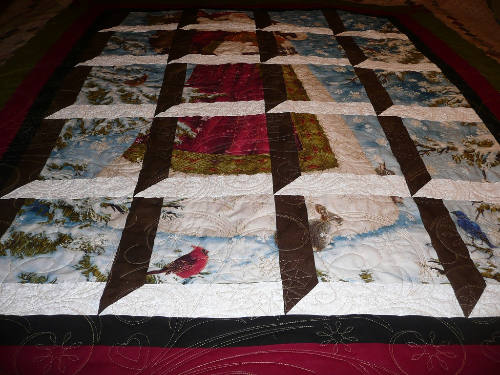 Acorn Ridge Quilting Carolyns Santa And Attic Windows Quilt