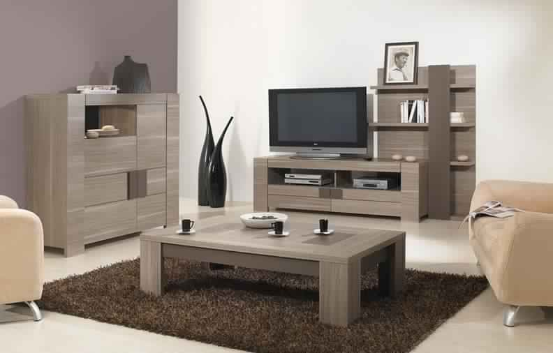 Meuble tv conforama bois meuble tv for Salon complet conforama