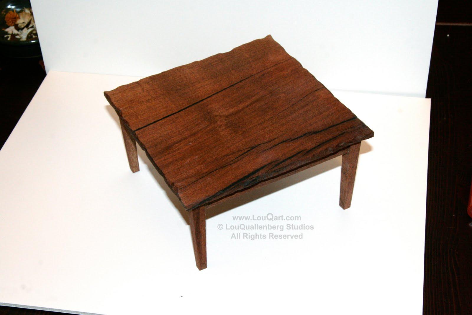 Square Mesquite Table Model