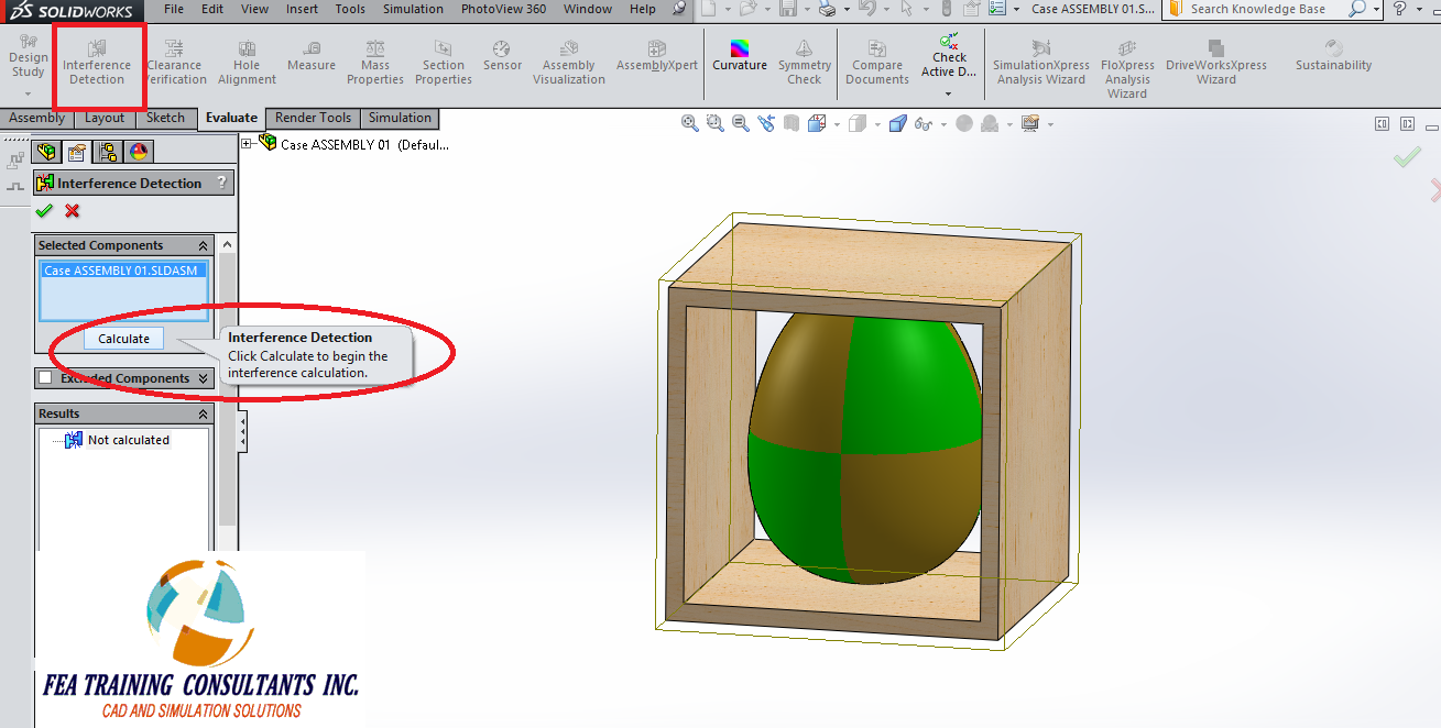 interference detection of solidworks assembly