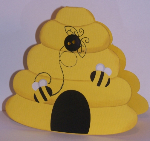 Baby Bees House Bee Hive Card
