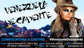 casting caracas venezuela se viste de moda decadente