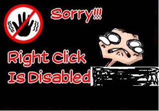 menghindari copy paste  anti klik kanan pada postingan blog