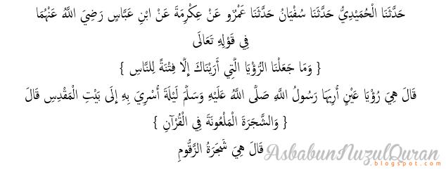 qur'an surat al Israa' ayat 60