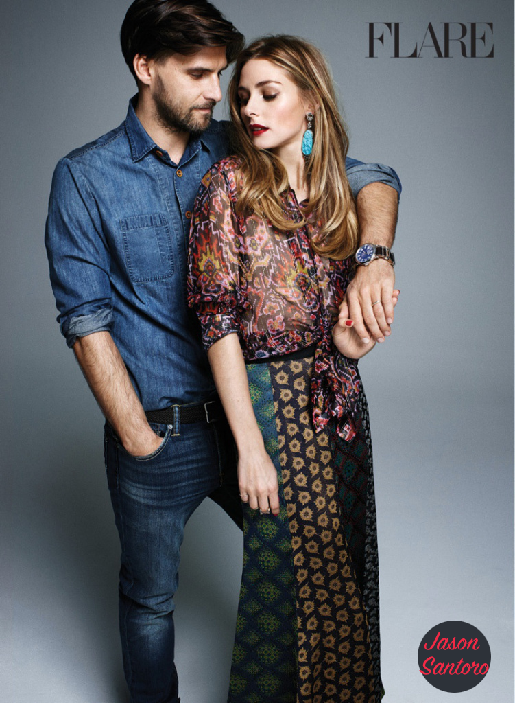"Olivia Palermo and husband Johannes Huebl cover Flare magazine's ""Love & Lust"""